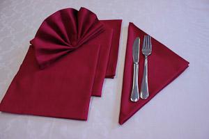 Tovaglioli stoffa rossi